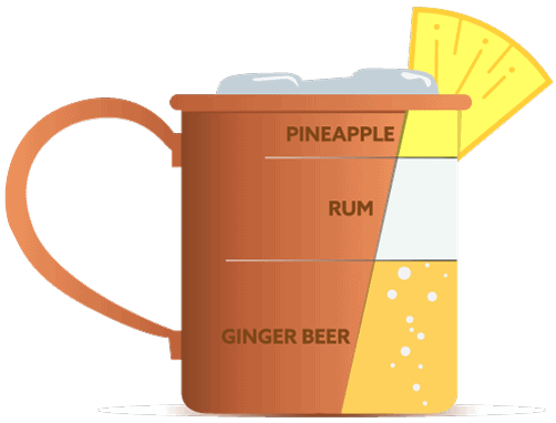 Ginger Beer Rum and Pineapple