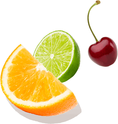 Orange Lemon and Cherry